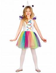 Disfraz de miss unicornio niña