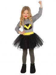 Disfraz de superheroína negro niña