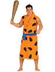 Disfraz hombre cavernícola naranja adulto
