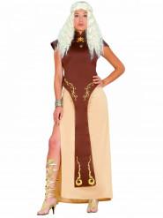 Disfraz reina del trono mujer