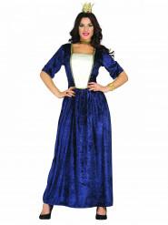 Disfraz de mujer medieval azul