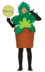 Disfraz de planta de cannabis adulto