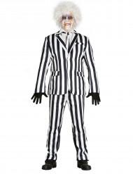 Disfraz de traje rayas negras y blancas hombres