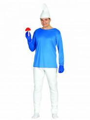 Disfraz de enano azul hombre