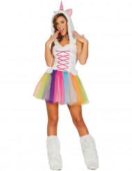 Disfraz miss unicornio mujer