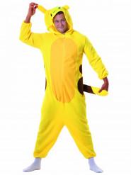 Disfraz de roedor amarillo adulto