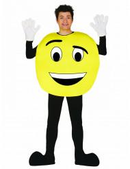Disfraz de emoticono personalizable adulto