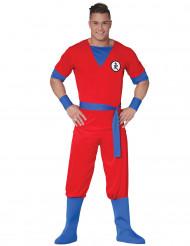 Disfraz de manga rojo adulto