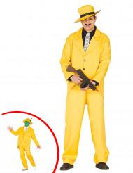 Disfraz gánster amarillo adulto