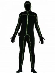 Disfraz negro luminoso hombre