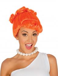 Peluca mujer de las cavernas naranja adulto