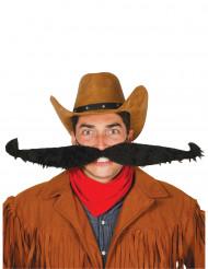 Maxi bigote negro 55 cm adulto