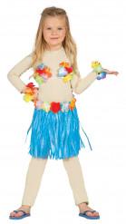 Kit hawaiana azul niño