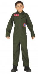 Disfraz traje piloto niño