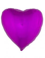 Globo aluminio corazón rosa fucsia 45 cm