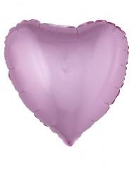 Globo aluminio corazón rosa 45 cm