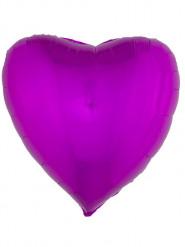 Globo aluminio corazón rosa fucsia 76 cm