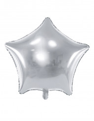 Globo aluminio estrella plateada 45 cm