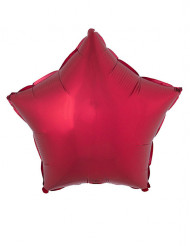 Globo aluminio estrella roja 53x46 cm