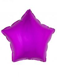 Globo aluminio estrella rosa fucsia 45 cm