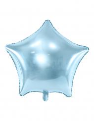 Globo aluminio estrella azul turquesa 45 cm