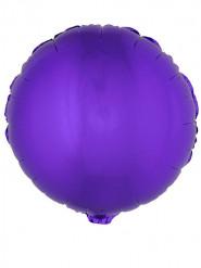 Globo de aluminio redondo Violeta 45cm