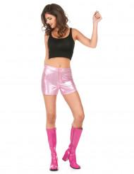 Pantalón corto disco rosa mujer