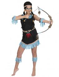 Disfraz de india flecos azules para mujer