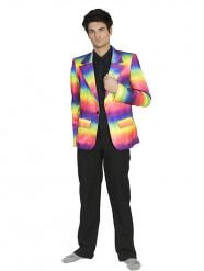 Chaqueta de traje arcoíris hombre