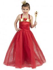 Disfraz de princesa de corazones rojo