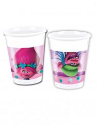 8 Vasos de plástico Trolls™ 20 cl