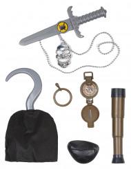 Kit accesorios jefe de piratas niño