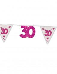 Guirnalda de banderines 30 años rosa 6 m