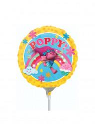 Globo hinchado aluminio Poppy Trolls™ 23 cm