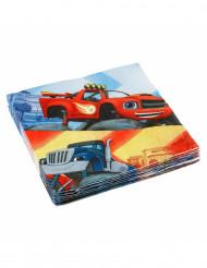 20 Servilletas papel Blaze y los Monster Machines™ 33x33 cm
