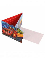 8 Tarjetas de invitación con sobres Blaze y los monster machines