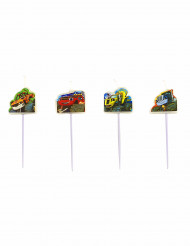 4 Velas palillo Blaze y los Monster Machines™