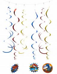 6 Decoraciones espirales Blaze y los Monster Machines™ 80 cm