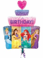Globo aluminio tarta de Princesas Disney™ 71 cm