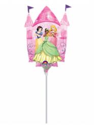 Globo pequeño aluminio castillo de Princesas Disney™ hinchado 33 cm