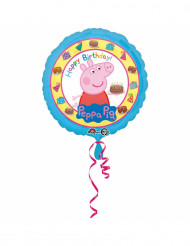 Globo aluminio Happy Birthday Peppa Pig™ 43 cm