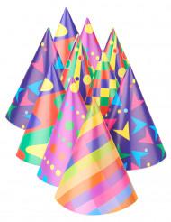 10 Gorros de fiesta multicolores