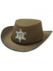 Sombrero sheriff marrón niño