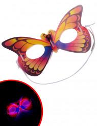 Máscara mariposa fosforescente
