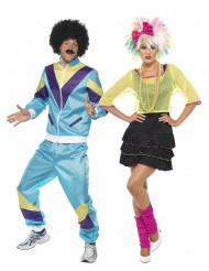 Disfraz de pareja años 80 adulto