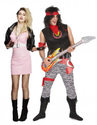 Disfraz de pareja rockera retro adulto
