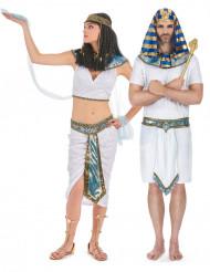 Disfraz de pareja egipcios azules adulto