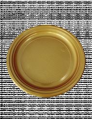 30 Platos de plástico dorado 22 cm