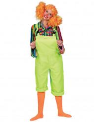 Disfraz traje verde fluo adulto