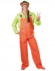 Disfraz traje naranja fluo adulto